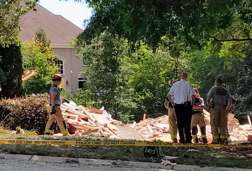 The house on James Jack Lane was a pile of rubble Wednesday after Tuesday's deadly explosion.