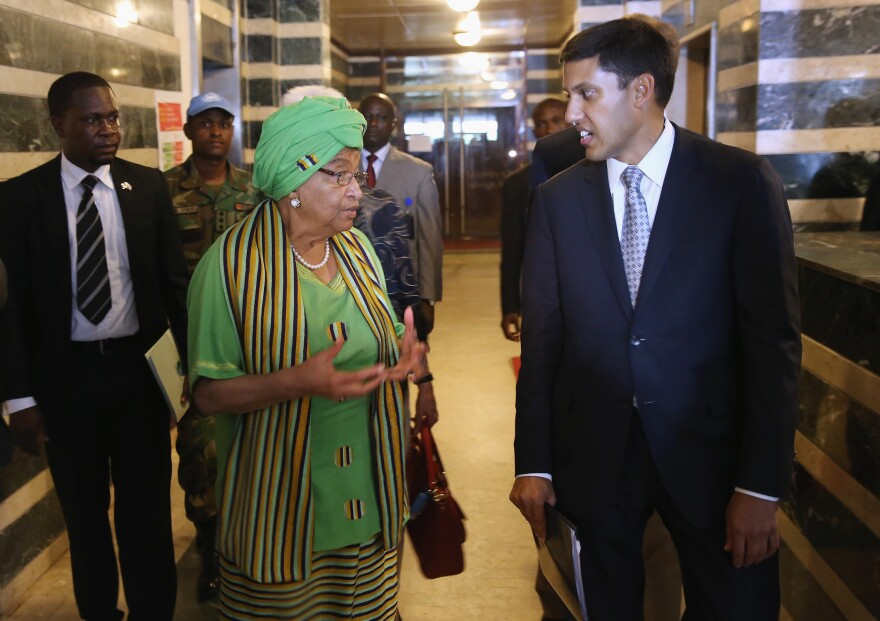 During an October visit to Liberia, USAID head Rajiv Shah held a joint press conference with the country's president, Ellen Johnson Sirleaf.