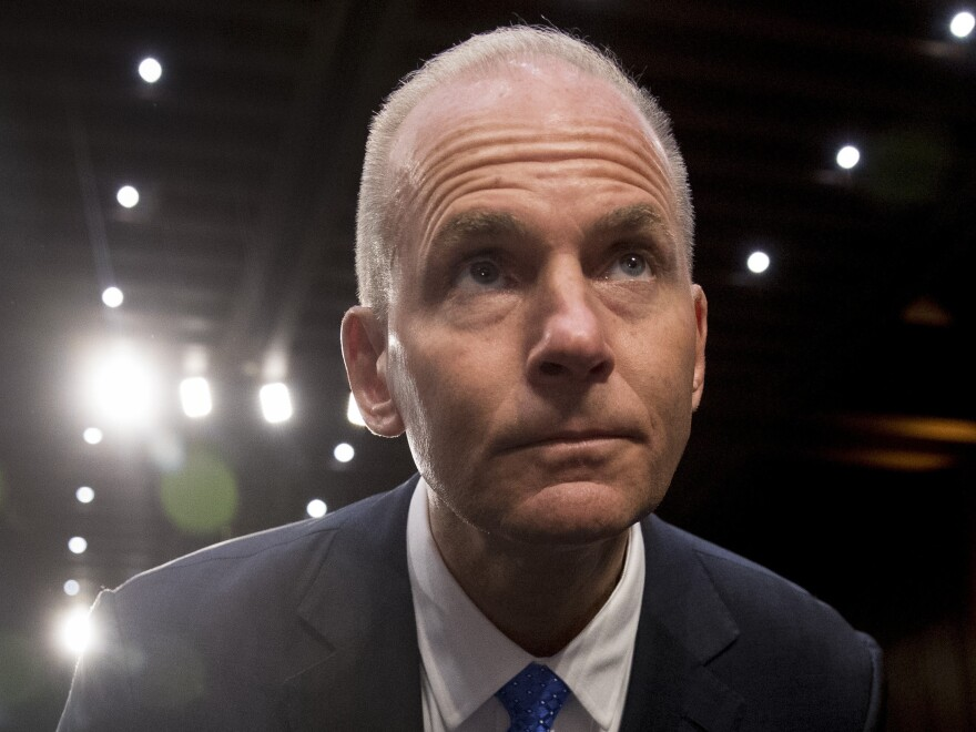 Senators criticized Boeing President and CEO Dennis Muilenburg at a hearing on 737 Max safety.