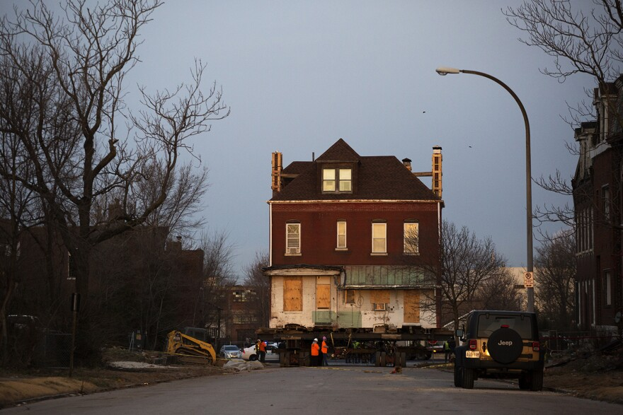 February 2016. Charlesetta Taylor lived in this Market Street home most of her life before she lost it to the NGA. Last February, the city of St. Louis moved to a St. Louis Avenue site. It's the only home in the condemned area that wasn't demolished.