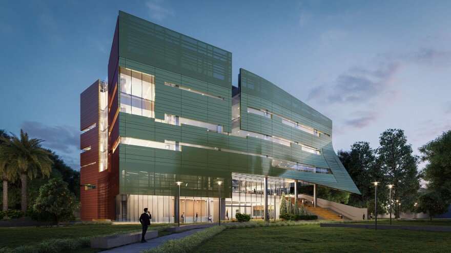 Architect's rendering of the new USF Judy Genshaft Honors College