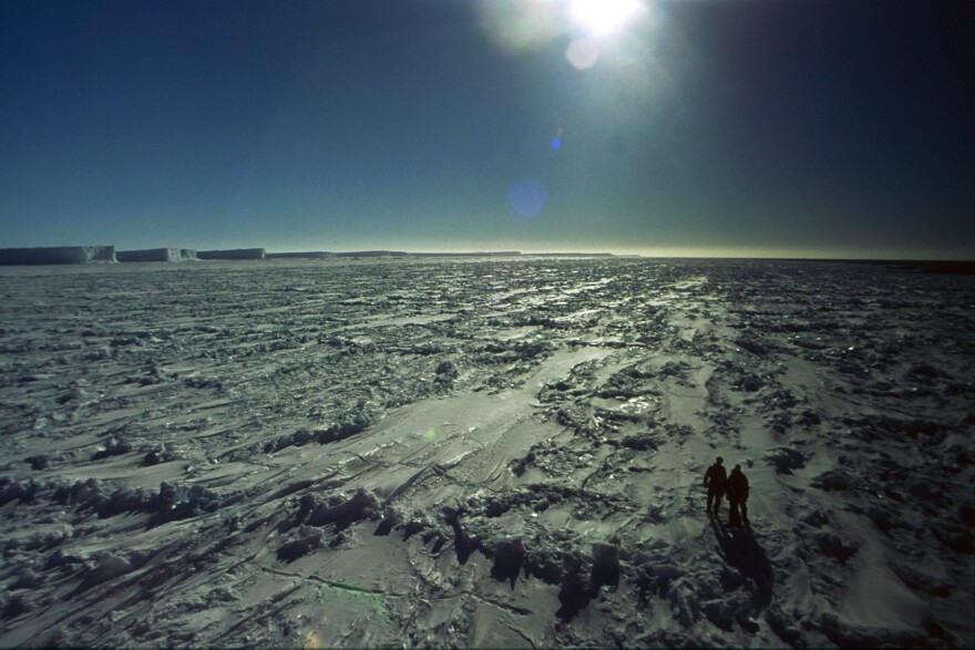 The author, Dr. Gavin Francis, arrived at Halley base on Christmas Eve 2002, at the height of the Antarctic midsummer, when 24-hour sunlight illuminates the vast swathes of empty ice.