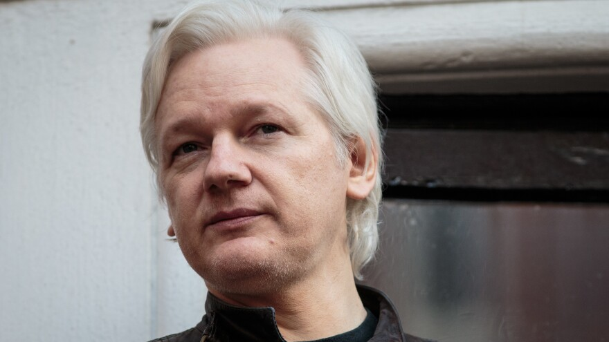 WikiLeaks founder Julian Assange speaks to the media from the balcony of the Embassy Of Ecuador in London on May 19.