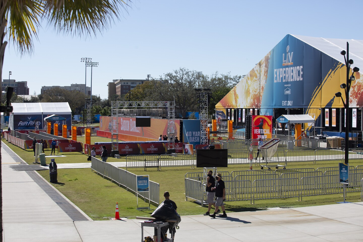 Exterior view of the Super Bowl Experience