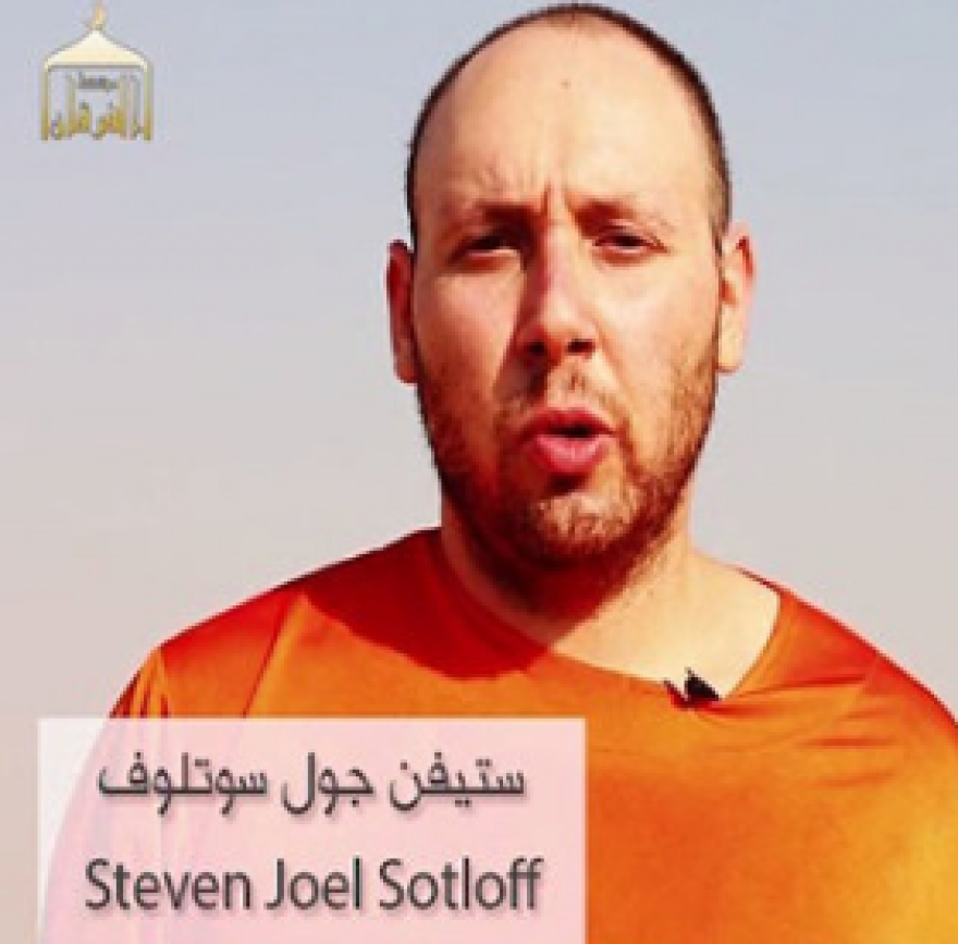 Steven Sotloff shown in the video ISIS released of his killing.