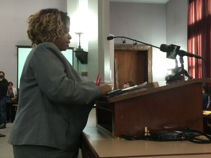 Alderman Tammika Hubbard, D-5th Ward, testified in favor of the stadium financing bill.
