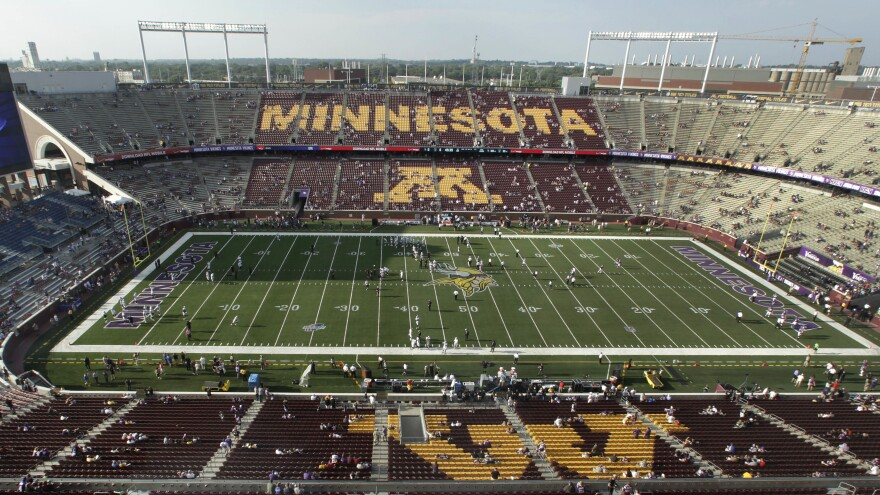 The University of Minnesota Golden Gophers, whose home stadium is pictured, are scheduled to play in the Holiday Bowl on Dec. 27.