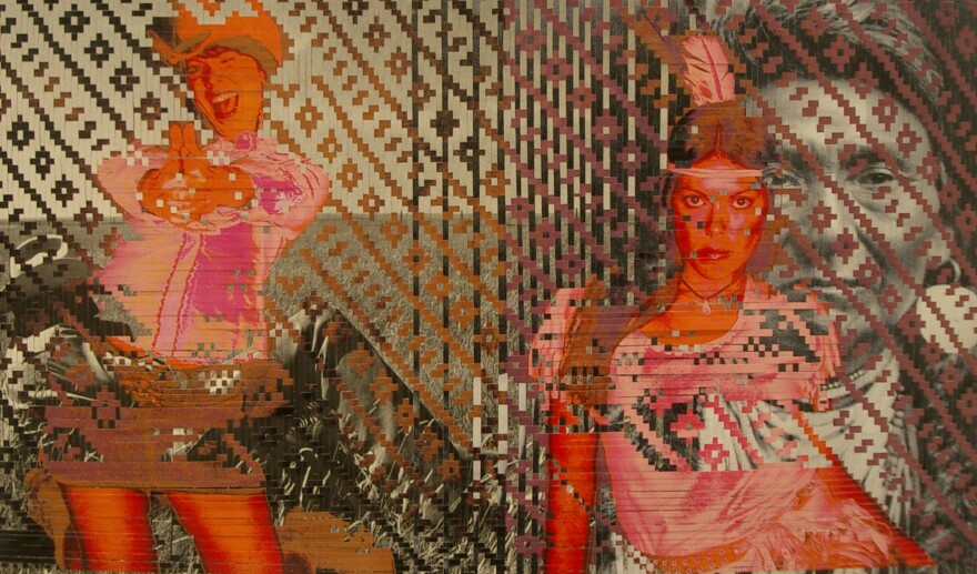 Sarah Sense embodies the Cowgirl and Indian princess roles in her art.