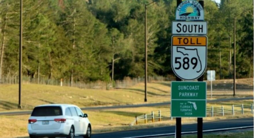 The plan would extend the Suncoast Parkway from the Tampa Bay area to the Georgia border.