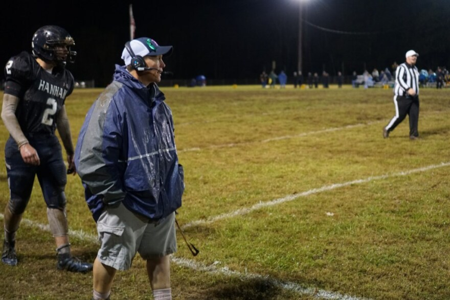 Thomas spent nearly 20 years as the athletic trainer for Hannan's football team. This is her first year as the team's head coach, making her the first female head coach in state history.