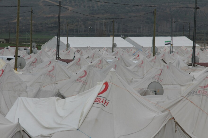 About 1,900 people live at the Boynuyogun refugee camp.