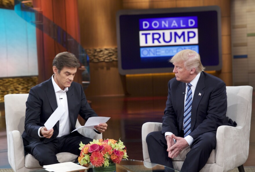 Donald Trump visited the <em>Dr. Oz Show</em> on Thursday to discuss his health and how he tries to stay fit on the campaign trail.