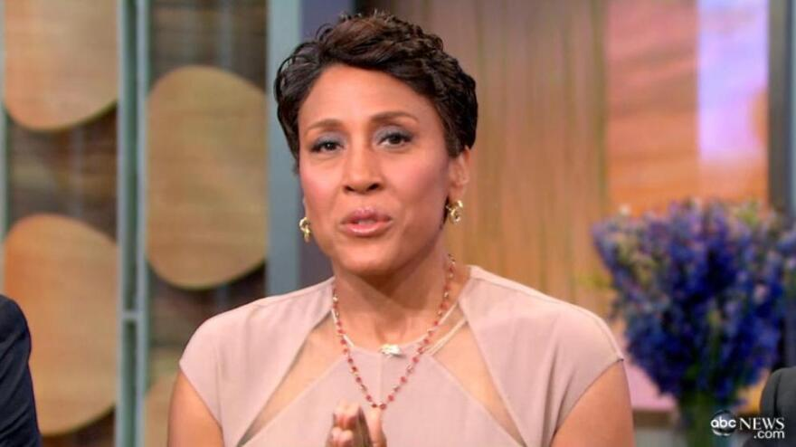 <em>Good Morning America</em>'s Robin Roberts on the show today.