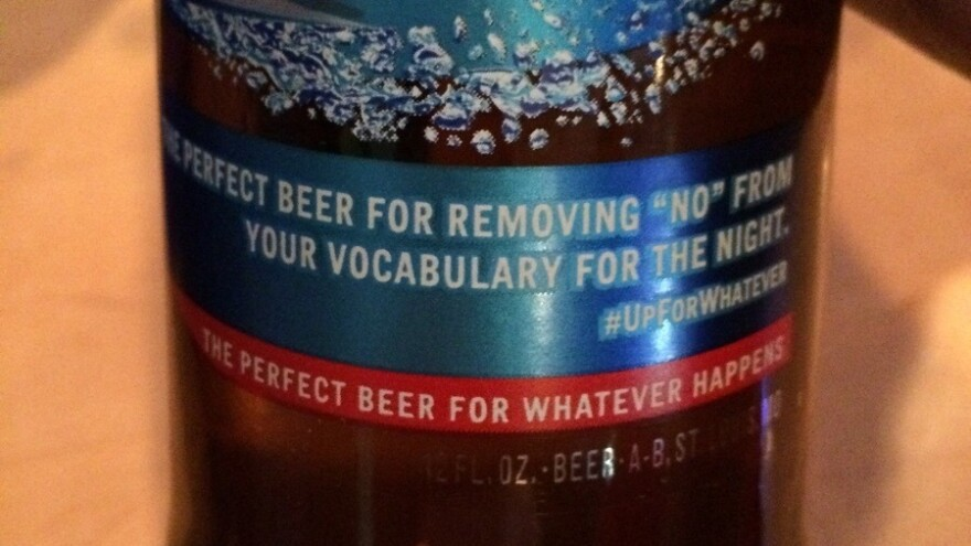 "Anheuser-Busch has apologized for a message on bottles of Bud Light that said it is ""the perfect beer for removing 'no' from your vocabulary for the night.""  The labels are no longer being produced."