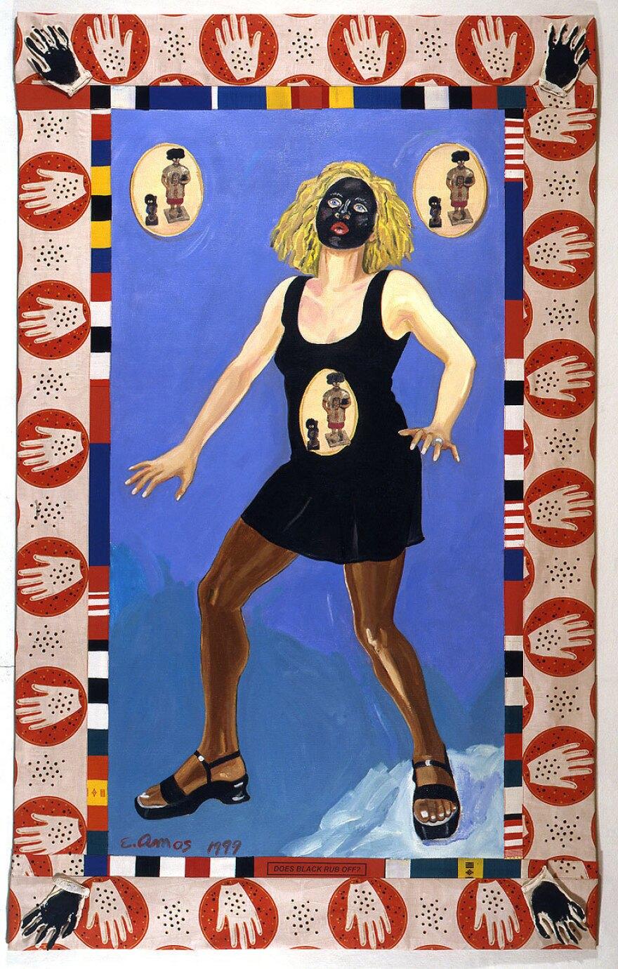 Emma Amos, <em>Does Black Rub Off?,</em> 1992