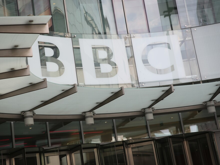 "China's broadcasting regulator said Thursday that the BBC had ""undermined China's national interests and ethnic solidarity"" and was banning the British broadcaster's world service. The BBC headquarters in London are seen here in 2016."
