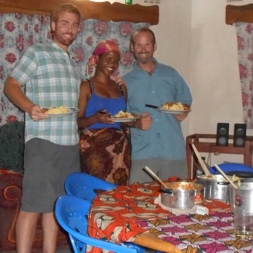 George, Annie and Pat in Malawi.