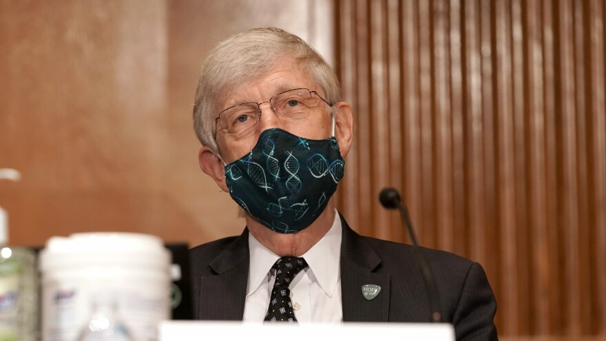 Dr. Francis Collins, director of the National Institutes of Health, is pictured on Capitol Hill in September. Collins tells NPR that scientists from the FDA have been closely analyzing data from vaccine trials to determine safety.