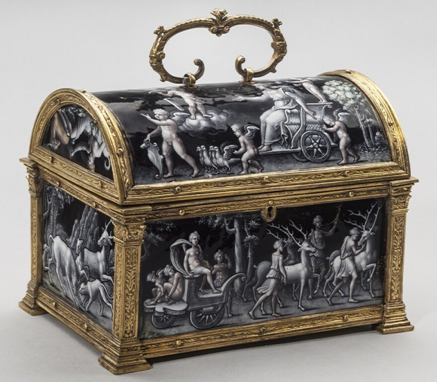 """""""Casket with the Triumph of Diana"""" by Pierre Reymond, from about 1550, is one of many impressive works in the Taft Museum's virtual tours. The audio-visual tour of their permanent collection includes multiple views of works and interviews with curators an"""