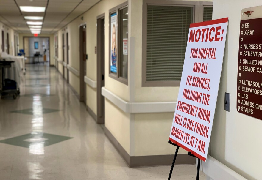 Closure of the hospital meant 147 nurses, aides and clerical staff had to find new jobs. The hospital was the town's second-largest employer, after the local school system.