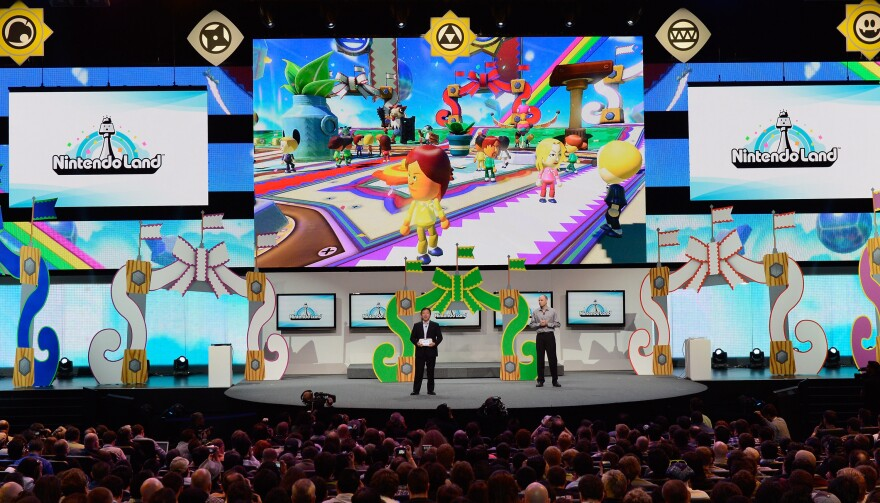 <em>NintendoLand</em> is a theme park game with different activities designed for Nintendo's new hand-held game console Wii U. It was presented at the Electronic Entertainment Expo in Los Angeles in June.