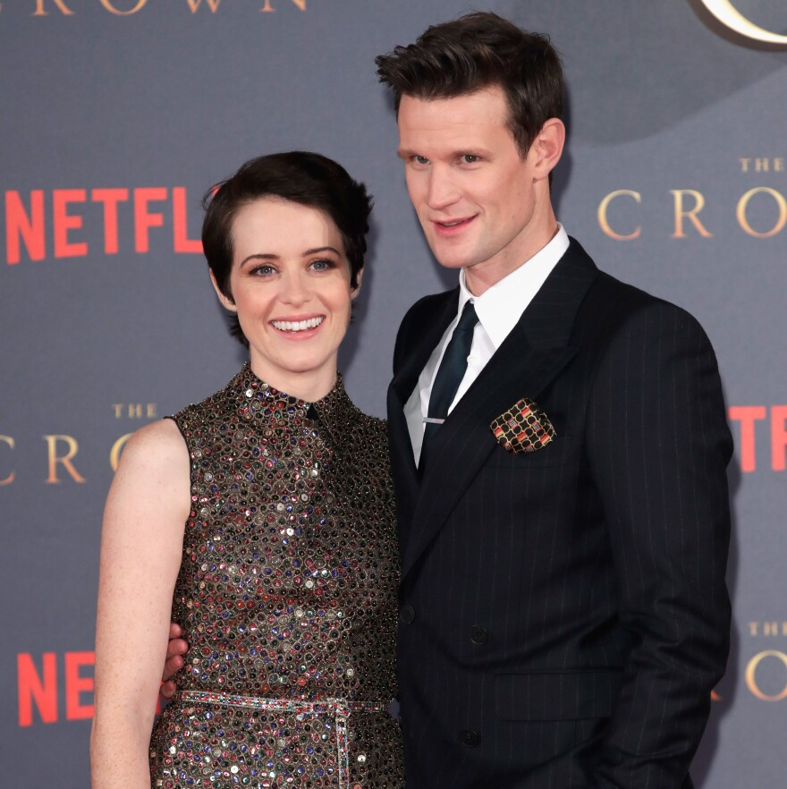 Actors Claire Foy and Matt Smith attend the world premiere of season 2 of Netflix's <em>The Crown</em> in London last year.