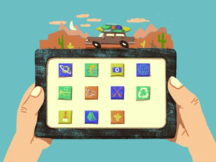 Apps for backseat travel