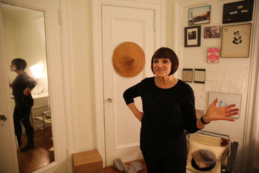 Agrest in her home studio — a place that houses her personal art collection and relics from her travels.