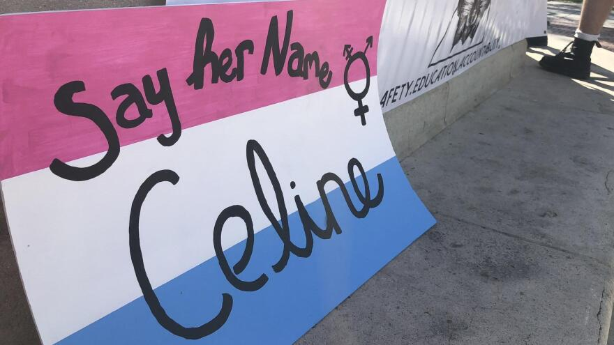 Advocates call for police to call transgender victim Celine Walker by the name she used in life at a February vigil.