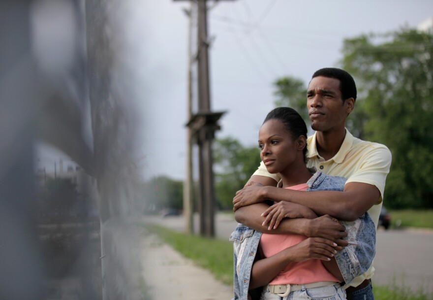 Tika Sumpter and Parker Sawyers in <em>Southside With You</em>.
