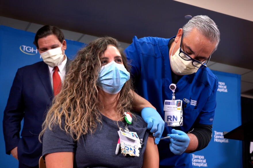 TGH nurse Vanessa Arroyo, 31, is among the first Floridians to receive the coronavirus vaccine.