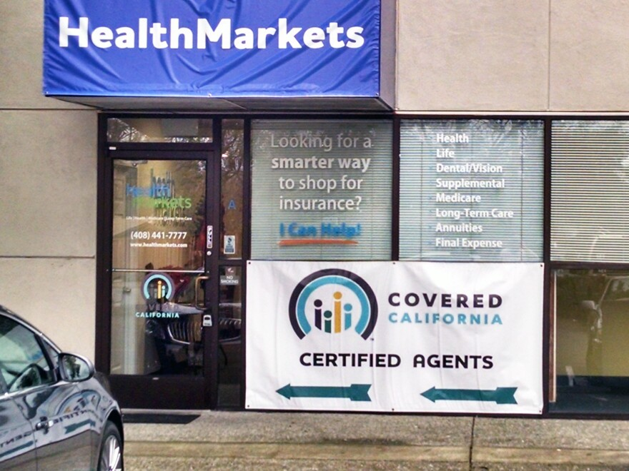 Storefronts like this one in Pleasant Hill, Calif., capture a lot of walk-in traffic for health insurance.