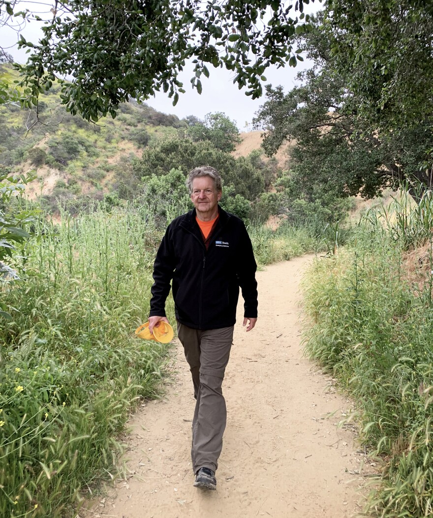 Mark Morocco, an emergency room doctor at Ronald Reagan UCLA Medical Center, says that wearing long pants and closed shoes can help protect against snake bites. Staying on the walking trail can also help.