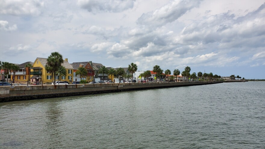 A view of Downtown St. Augustine Sunday as seen from the western base of the Bridge of Lions.