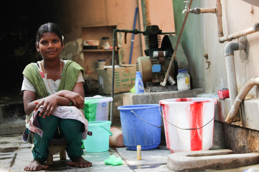 """Manju, 16, is an orphan who works as a domestic helper. Her message to Obama: """"I need a proper school to go to."""""""