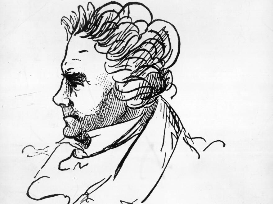 An autographed portrait of Ludwig van Beethoven.