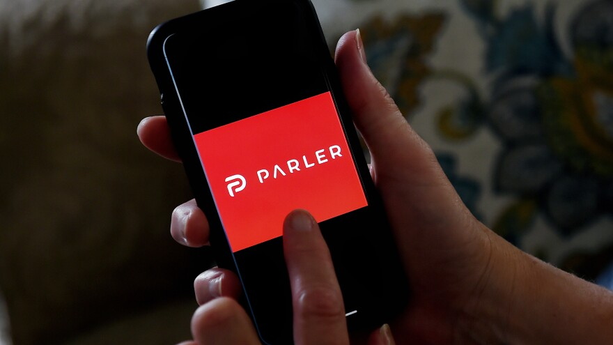 The messaging app Parler has been offline since Amazon suspended its account.