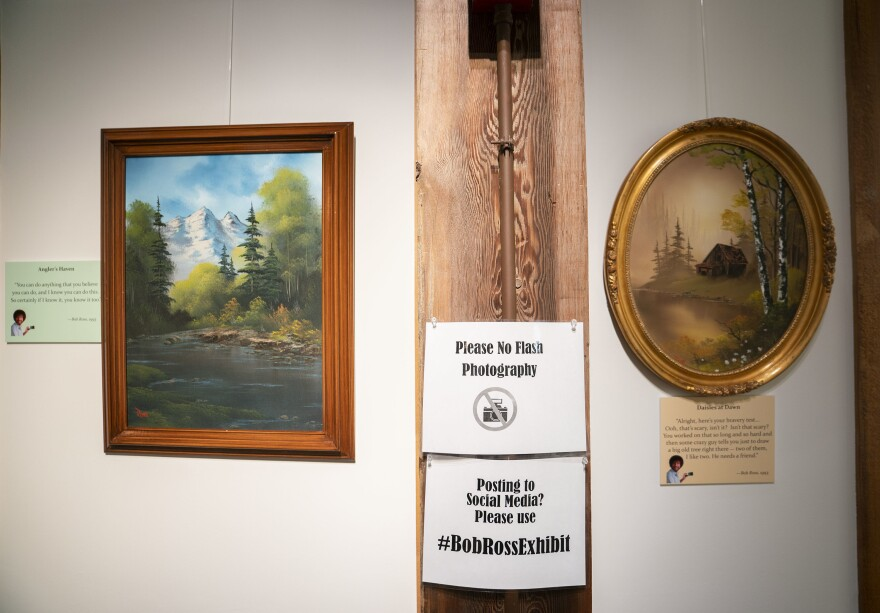 <em>Happy Accidents: An Exhibit of Bob Ross Paintings </em>will be on display the Franklin Parks Art Center, in Purcellville, Va., through Oct. 15.