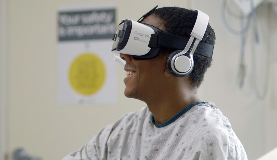 "Cedars-Sinai Medical Center in Los Angeles has been testing the value of <a href=""https://www.virtualmedicine.health/"">virtual reality devices in hospital settings</a> for a number of years."