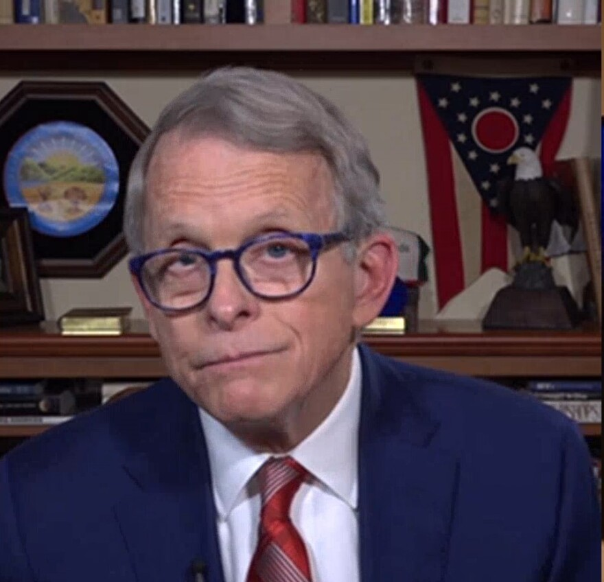 """Gov. Mike DeWine (R-OH), appeared via Skype for an interview with Statehouse Bureau Chief Karen Kasler for """"The State of Ohio"""" this coming weekend."""