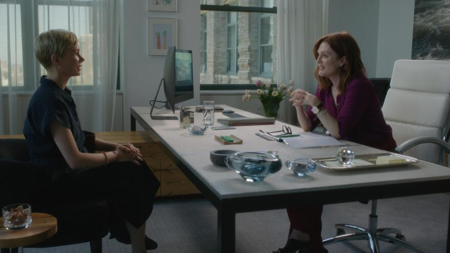 Chicken or Beef? Michelle Williams (left) and Julianne Moore (right) star in <em>After the Wedding, </em>a gender-swapped remake of an Oscar-nominated 2006 Danish drama.