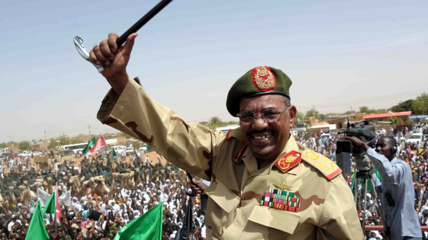 """Sudanese President Omar al-Bashir visits the southern town of El-Obeid on April 19 amid rising tensions with South Sudan. The countries have been skirmishing, and there are fears of a full-scale war. Bashir says South Sudan's leaders only understand """"the language of the gun."""""""
