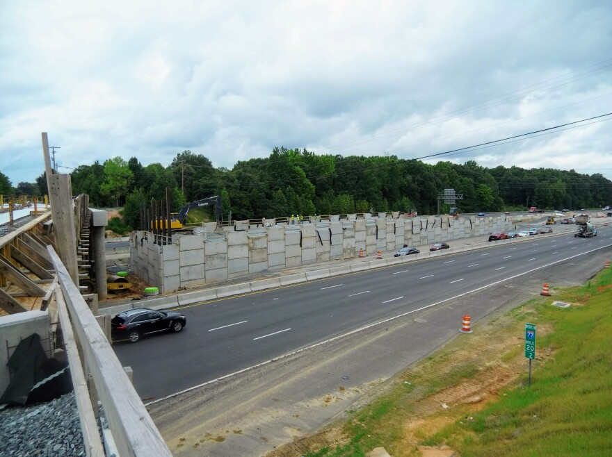 A direct access ramp is being added at I-77 and Hambright Road in Huntersville. Officials say it won't be open until after the toll lanes open.