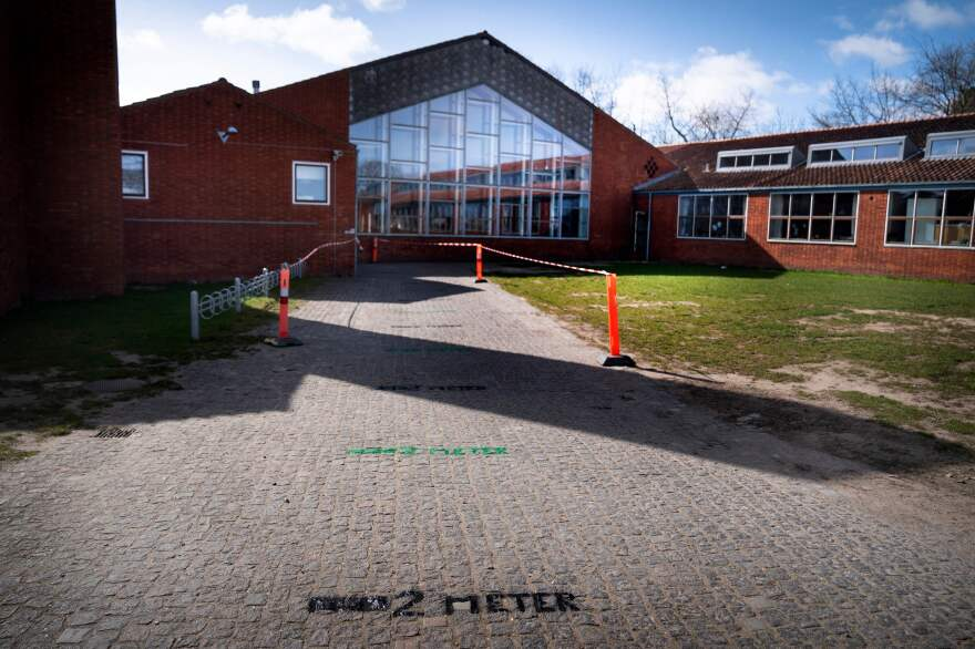 Coronavirus precautions at Stengaard School in Gladsaxe, Denmark.