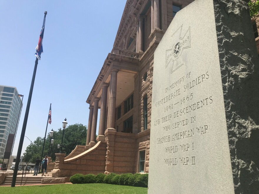 Tarrant County Commissioners voted to remove a monument commemorating Confederate soldiers that sits in front of the county courthouse on June 9, 2020.