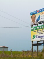 One of the first signs drivers see on the way into Unionville, Mo. is this billboard advertising cardiology at Putnam County Memorial Hospital. Offering specialty services, like cardiology and psychiatry turned the hospital around, community leaders say.