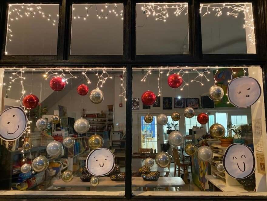 K12 Gallery and TEJAS winter window