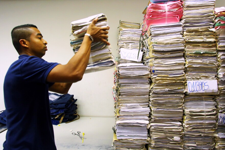 Brazil's judicial system faces a massive backlog of cases — and stacks of paperwork. One group of five judges in Sao Paulo is currently handling 1.6 million cases.