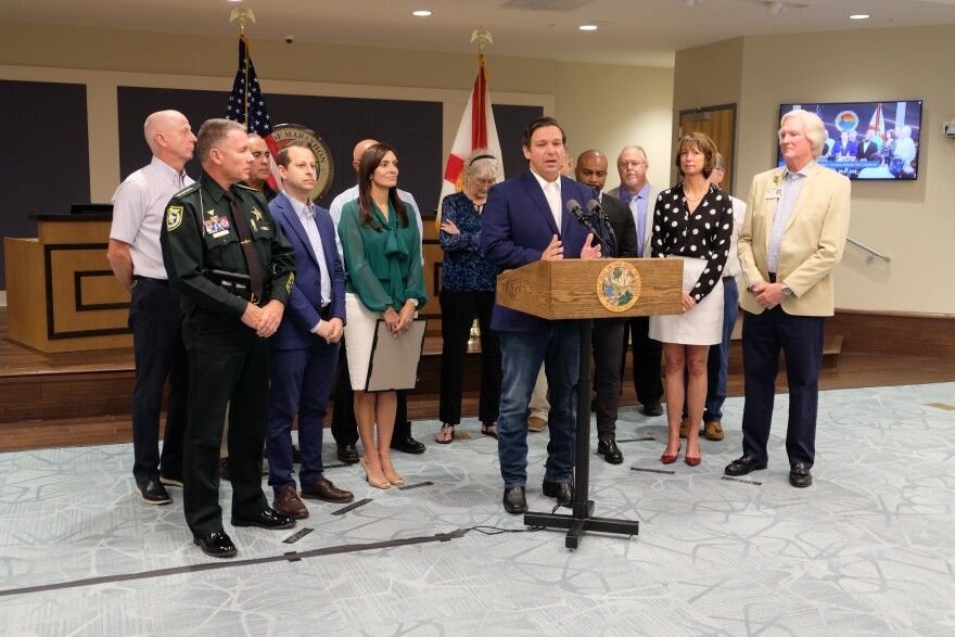 Gov. Ron DeSantis announced $21 million in hurricane debris reimbursements and $35 million in new funding for affordable housing in the Keys Thursday.
