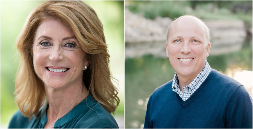 Democrat Wendy Davis (left) will face Republican incumbent Chip Roy (right) in the November 2020 election.